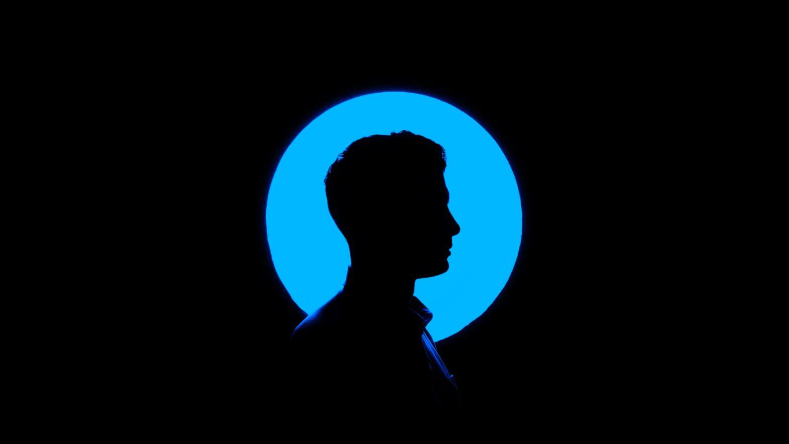 Profile of a person.