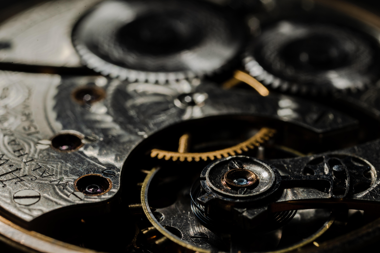 Cogs inside a watch